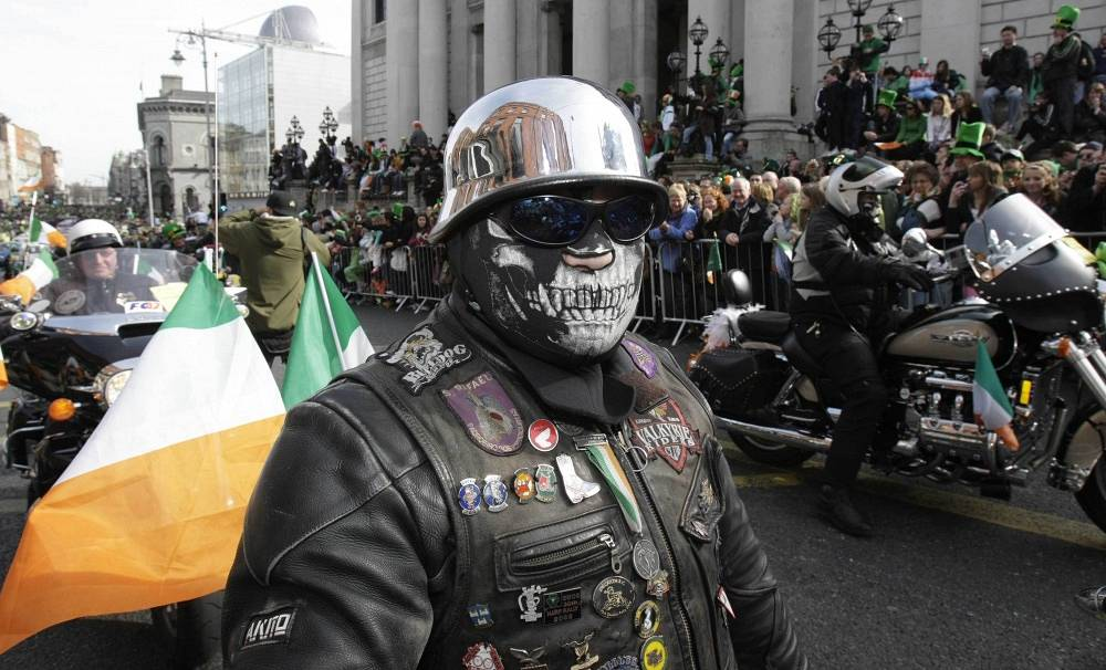 On Saint Patrick's Day in Ireland people wear national costumes. People in other countries celebrate the day as well
