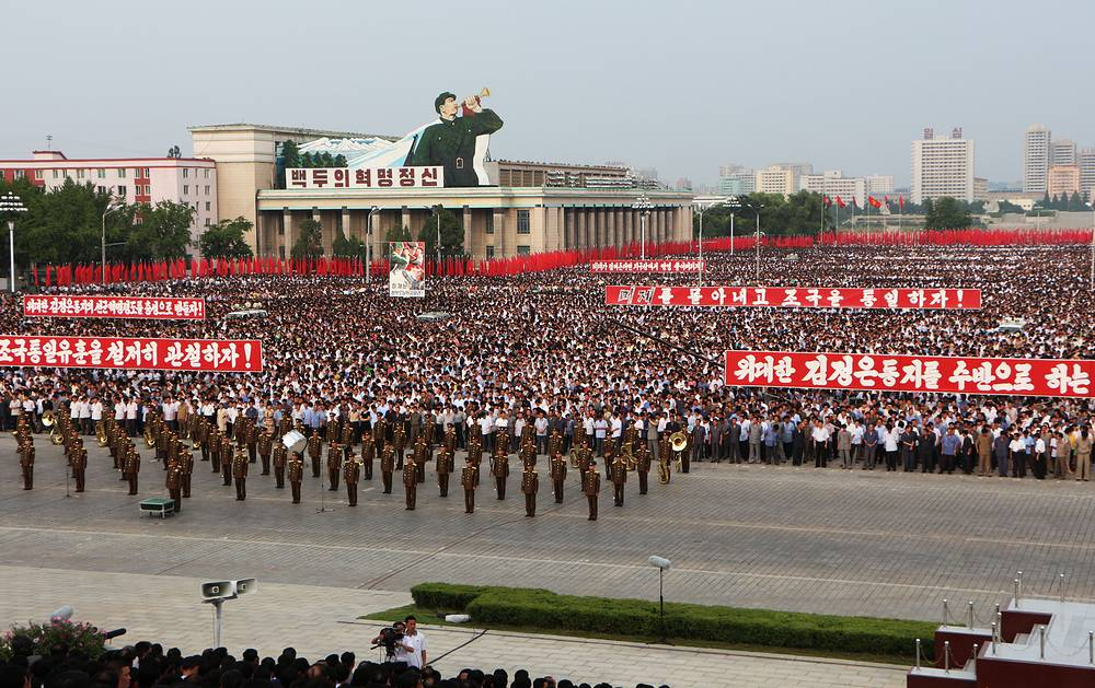 Every year Pyongyang citizens march to mark the anniversary of the start of the Korean War that split the Korean people
