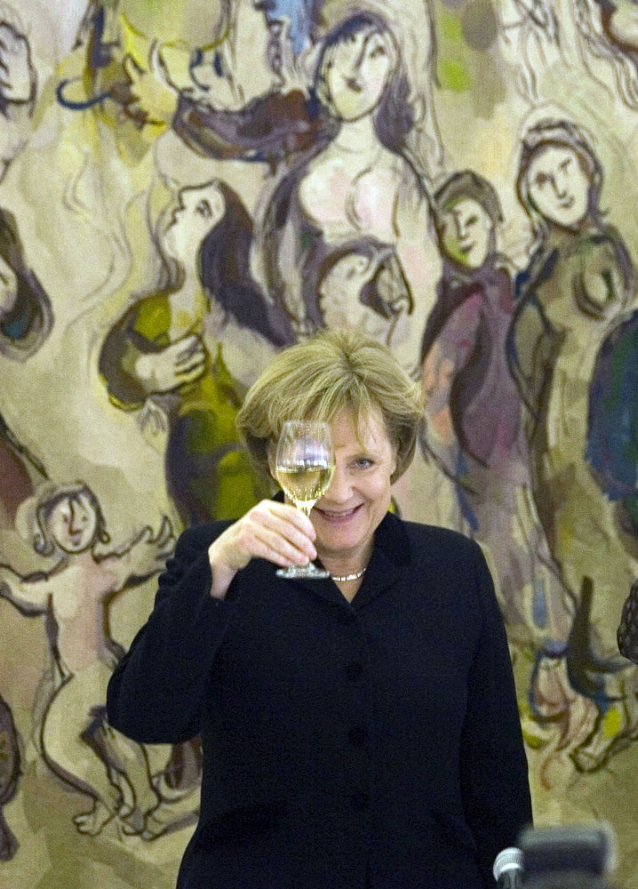 German Chancellor during her visit to Jerusalem, 2008