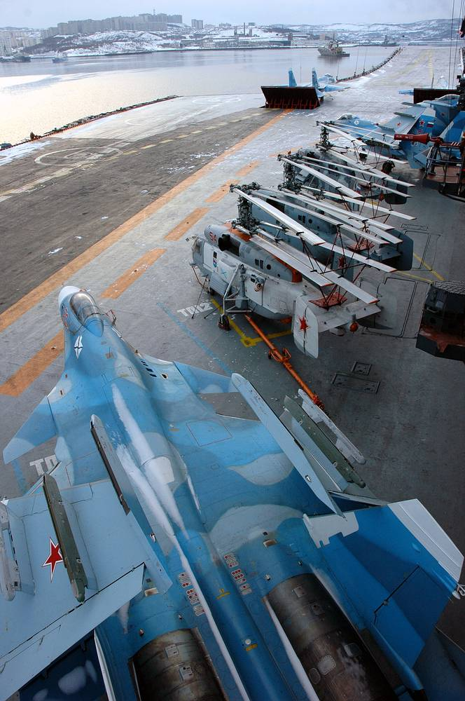 On board the Admiral Kuznetsov aircraft carrier
