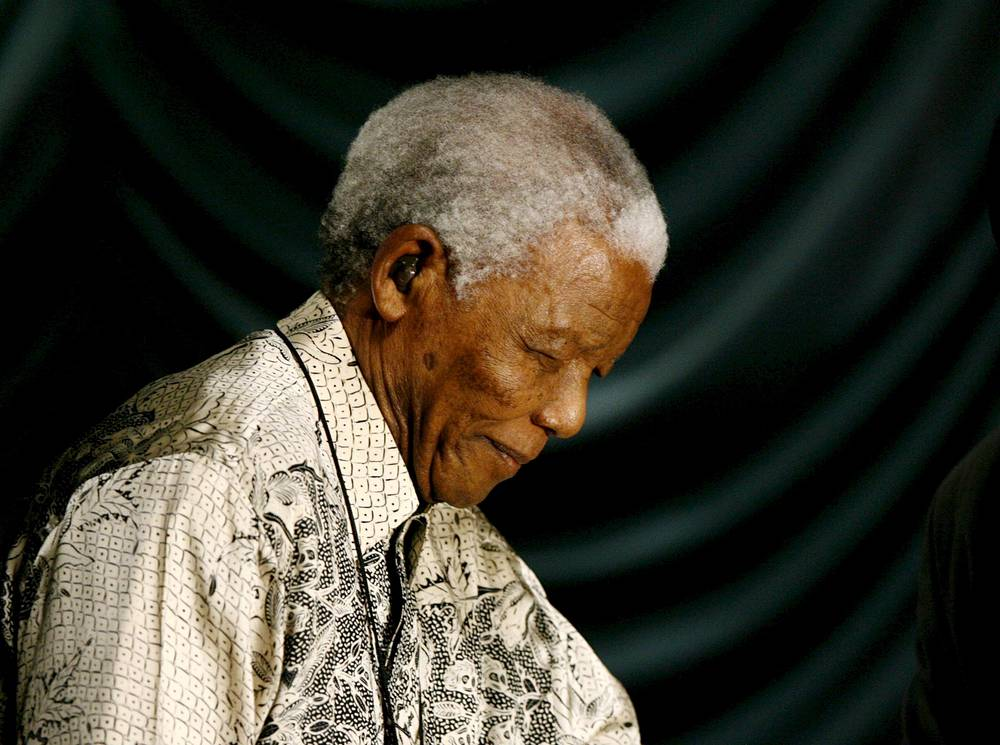 Nelson Mandela for many years worked to abolish the apartheid policies of the ruling National Party in South Africa. Mandela was sentenced to life in prison