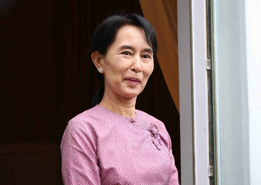 Myanmar opposition leader Daw Aung San Suu Kyi was awarded the Nobel Peace Prize in 1991 for her efforts to promote democratic values