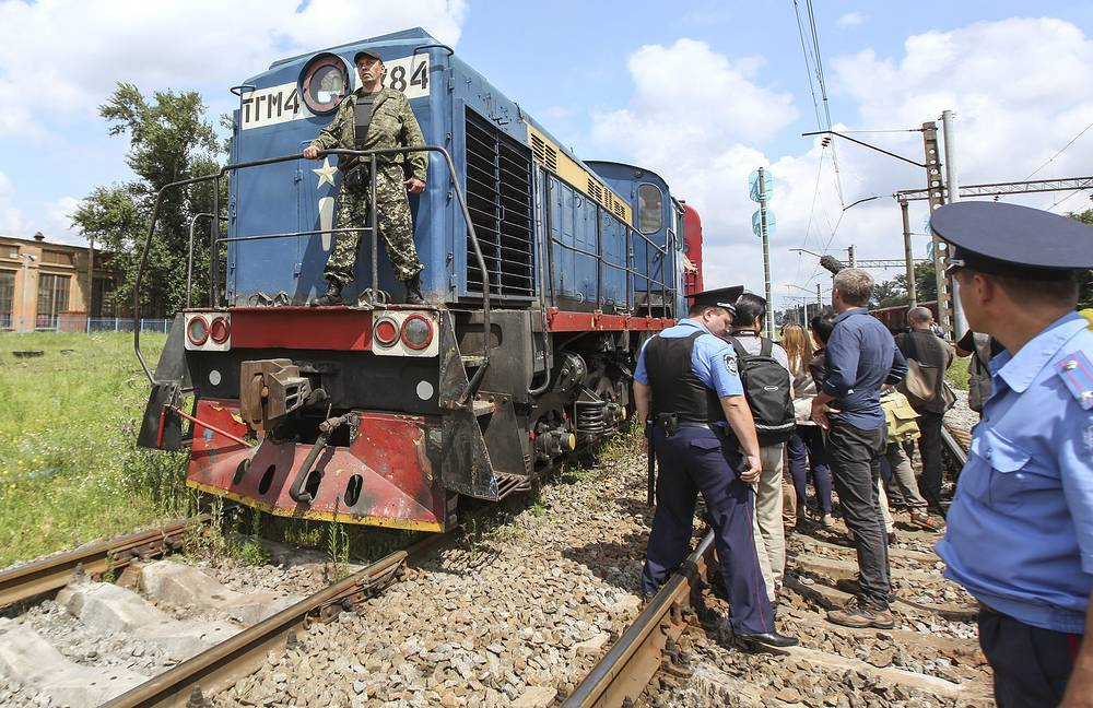 On Tuesday, July 22, the train with bodies of the victims arrived in eastern Ukraine's Kharkiv