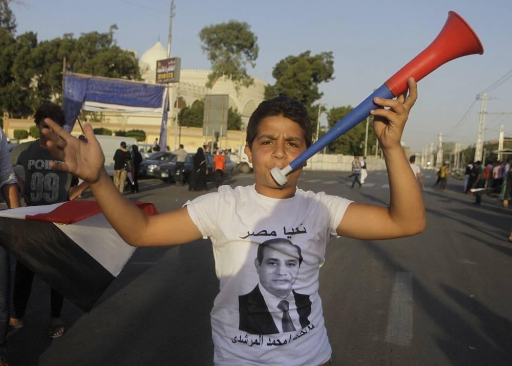 Supporter of Egypt's President Abdel Fattah el-Sisi