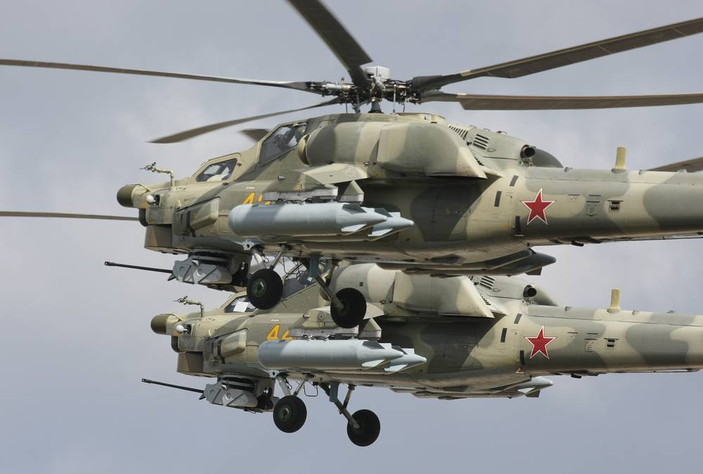 Mi-28N anti-armor attack helicopter is called Night Hunter. It is designed to carry out search and destroy operations against tanks, armoured vehicles, enemy personnel in combat and low-speed airborne target