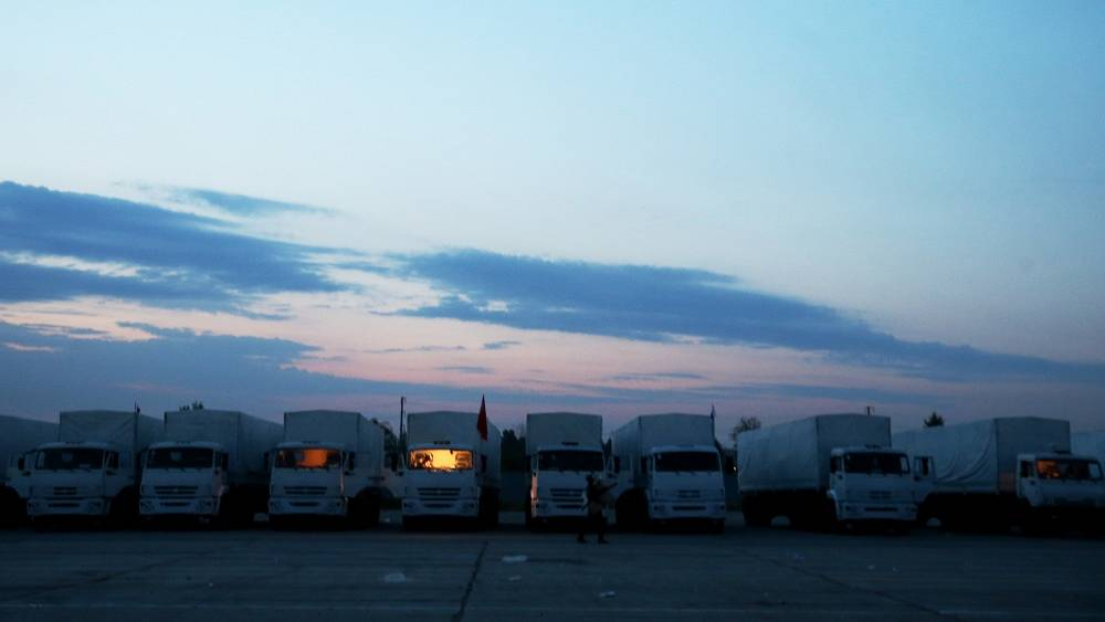The humanitarian convoy left Russia's Moscow Region early morning of August 12