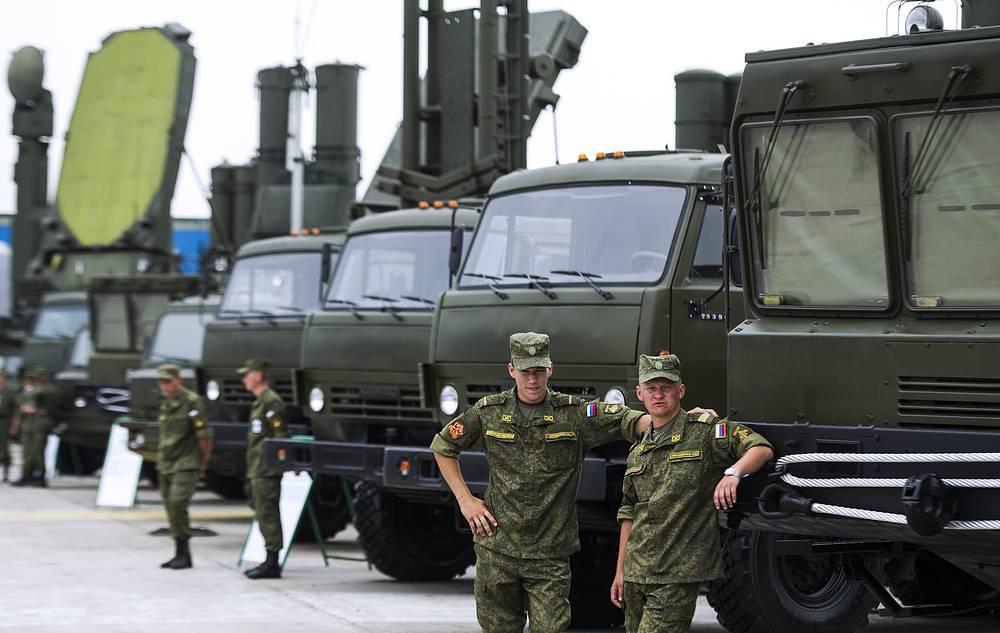 Military equipment on display