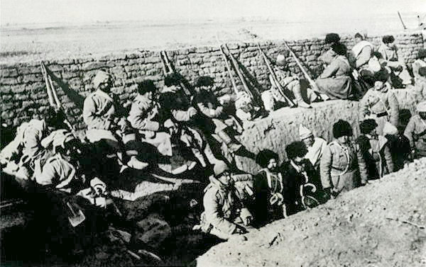 Russian soldiers during the Russo-Japanese War (1904-1905)