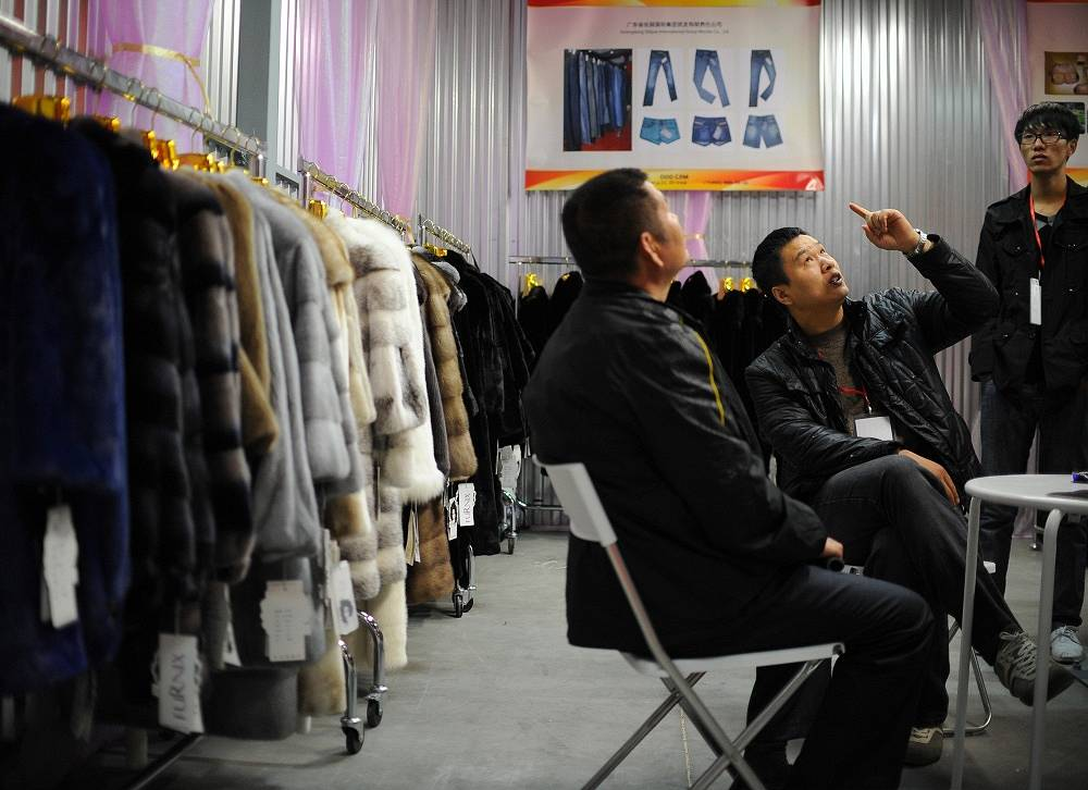Chinese imports include footwear (6.06%), fur products (3.92%)