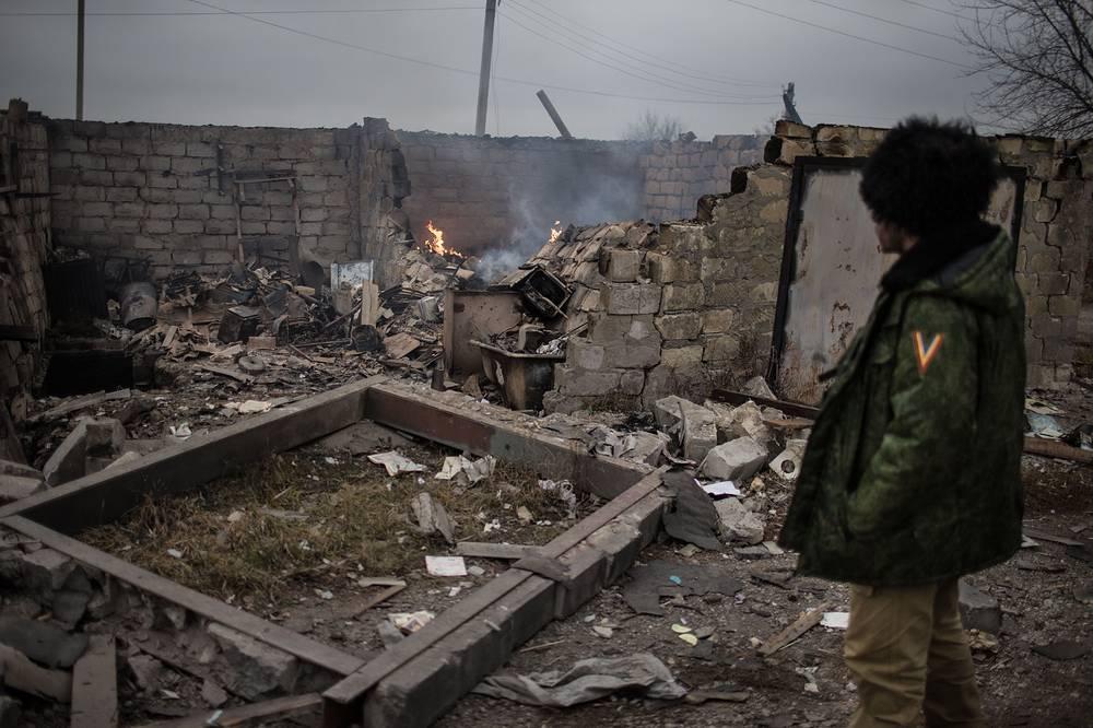 Photo: Ruins in the town of Slavyanoserbsk,  Luhansk region