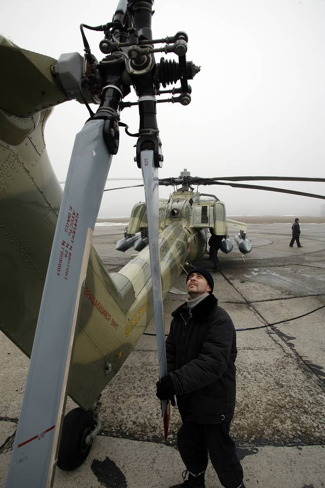 Mi-28 is a Russian all-weather anti-armor attack helicopter. It was unveiled in 1995