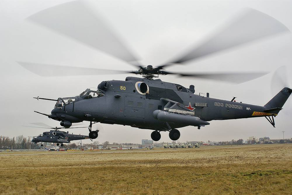 Multipurpose Mi-35M attack helicopter is a comprehensive modernisation of the Mi-24V helicopter, produced by Rostvertol.  In addition to its attack capabilities, the Mi-35M can also be used in transporting up to 8 paratroopers or cargo weighing up to 1500 kg