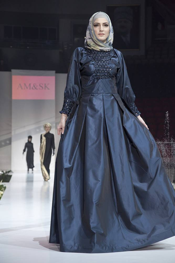 A runway show at the 2014 Grozny Fashion Week