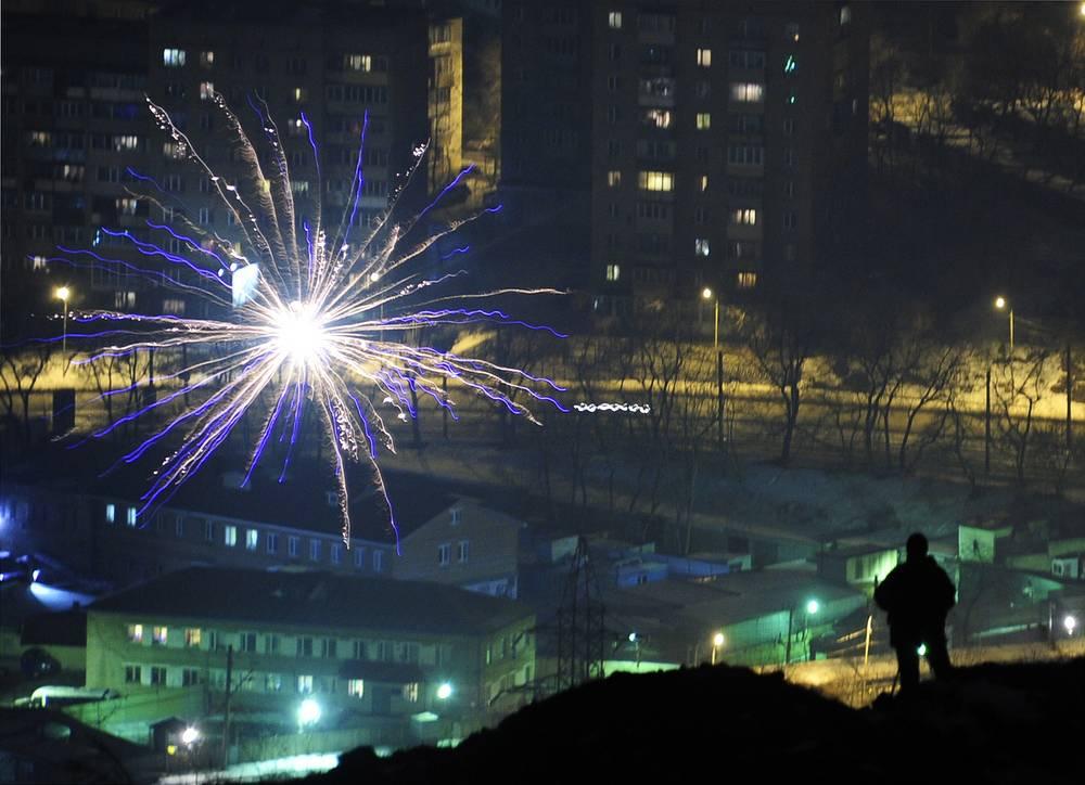Fireworks in Vladivostok