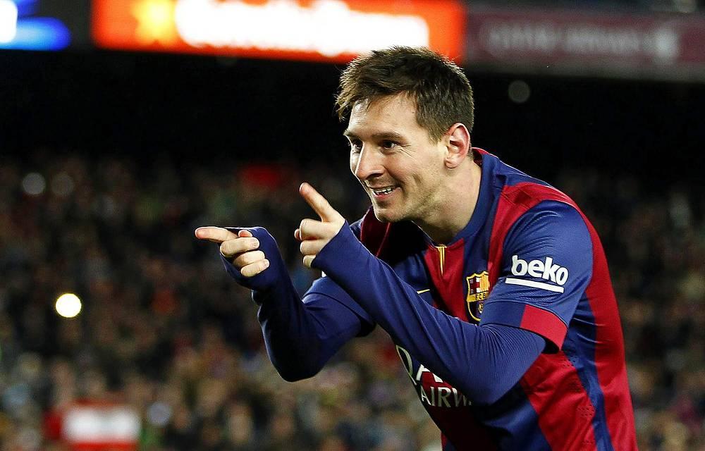 Barcelona's Argentinian striker Lionel Messi