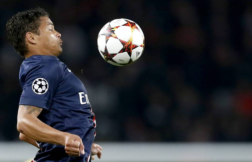Paris Saint Germain's Thiago Silva