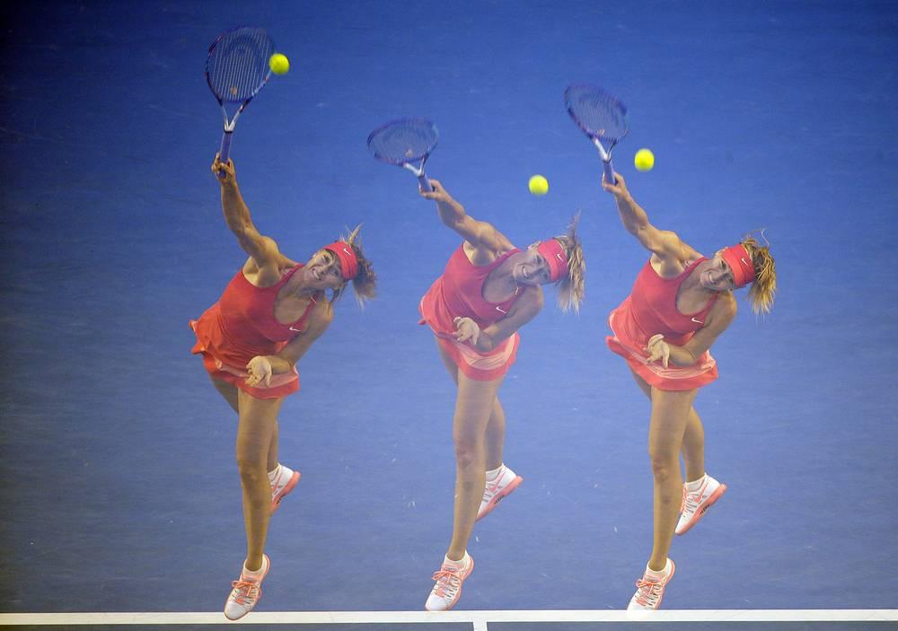 On January 23 Sharapova reached 4th round of Australian Open beating Kazakhstan's Zarina Diyas 6-1 6-1