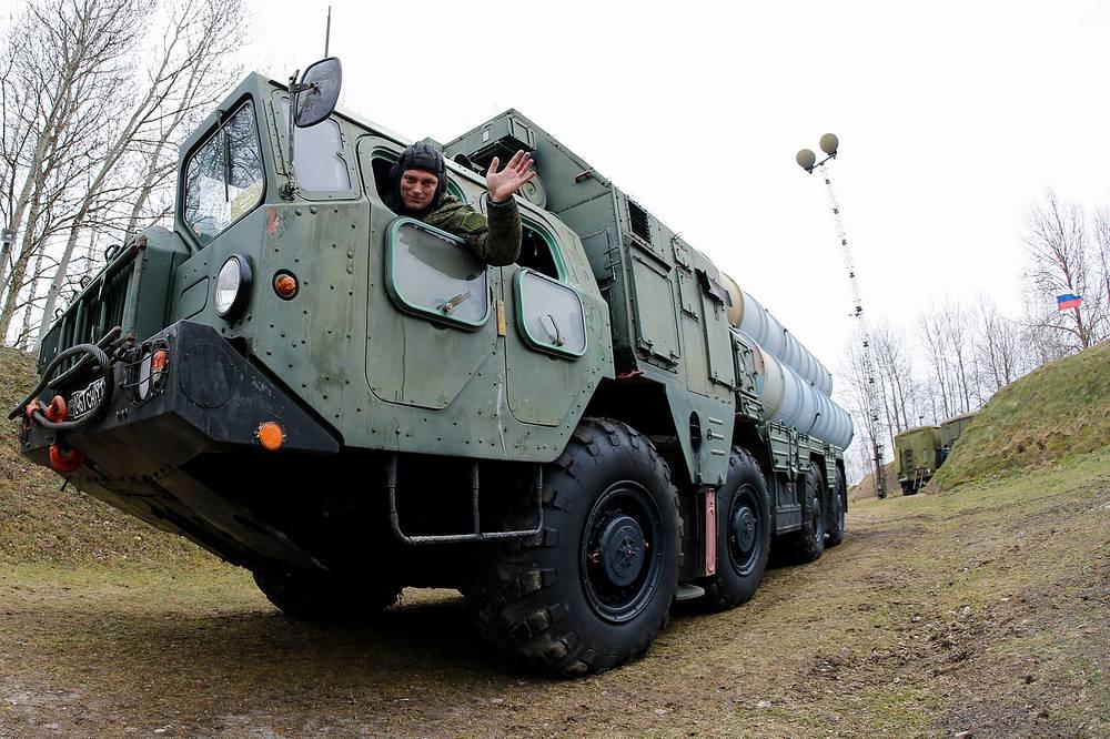 S-300 launcher vehicle