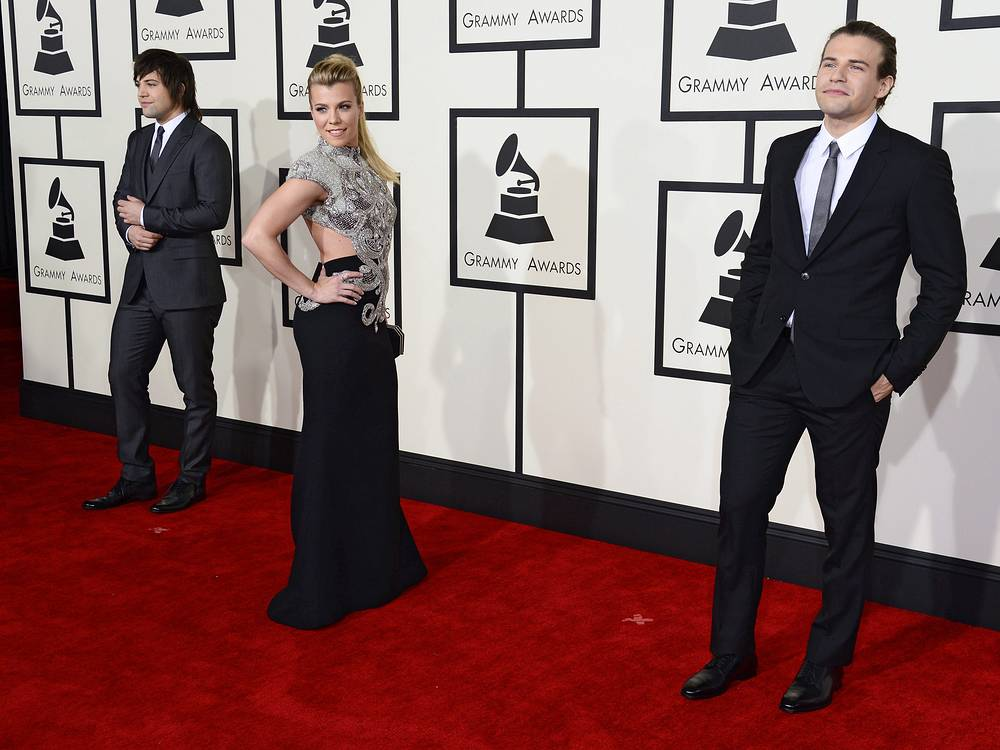 Neil Perry, Kimberly Perry, and Reid Perry of music group The Band Perry