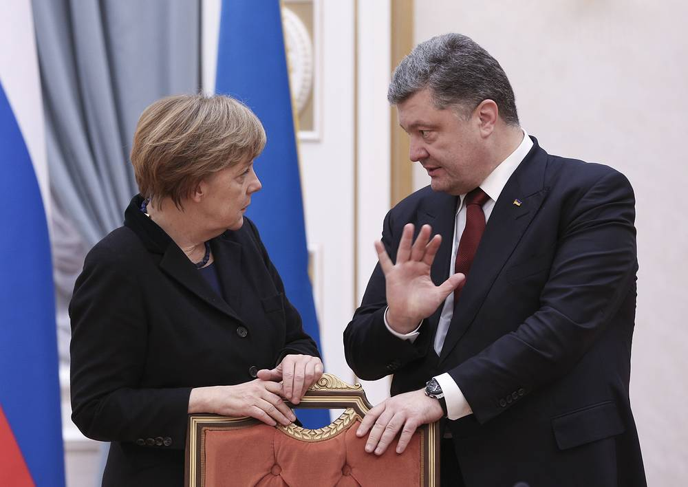 German Chancellor and Ukrainian President