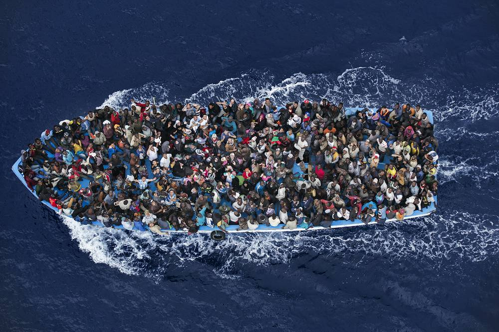Picture by Massimo Sestini, Italy. 2nd Prize in General News Singles category of the 58th World Press Photo Contest