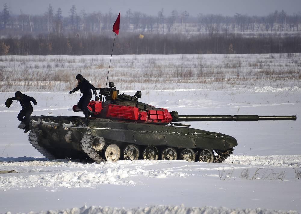 Regional stage of the 2015 Tank biathlon competition in Khabarovsk region