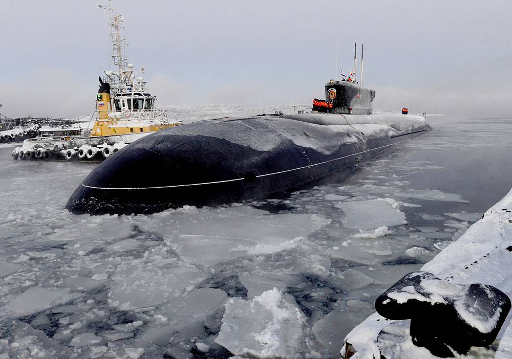 Borei-class nuclear-powered submarine Vladimir Monomakh