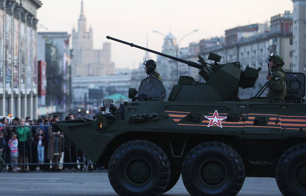 A BTR-82A armored personnel carrier