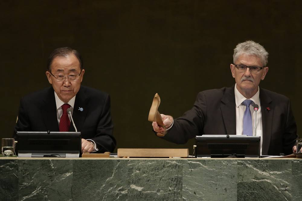 UN Secretary General Ban Ki-moon and General Assembly President Mogens Lykketoft