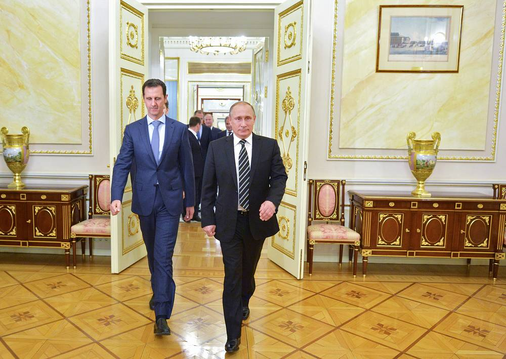 At a meeting with Bashar Assad Vladimir Putin noted that Russia was ready to make its contribution not only to the fight against terror in Syria, but also in the political settlement in contact with other powers and with the participation of all political forces, ethnic and religious groups,