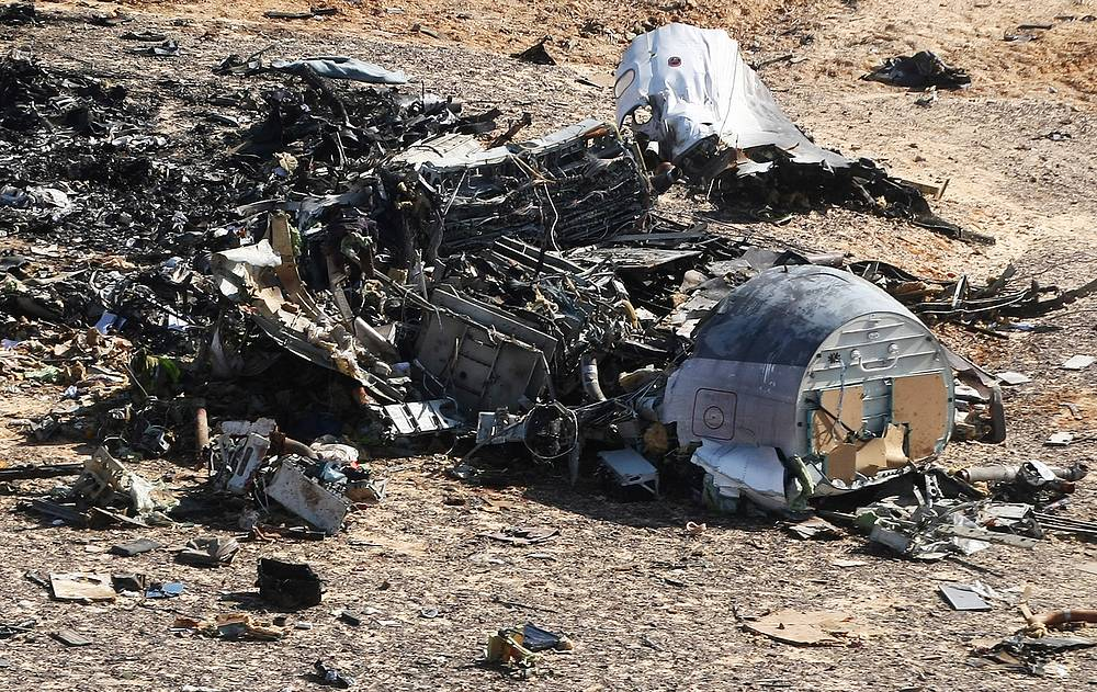 Debris of Kogalymavia's A321 plane