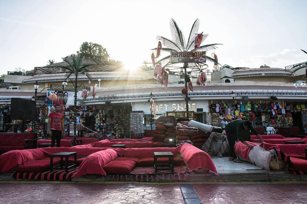 Bar in Namaa bay, Sharm el-Sheikh, Egypt, on Sunday