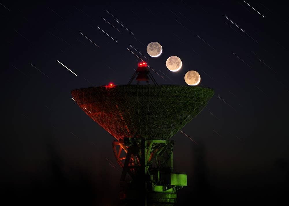 P-2500 radio telescope (RT-70) in the Russian Far East