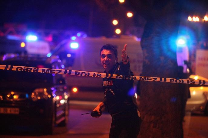 Scene of blast in Ankara