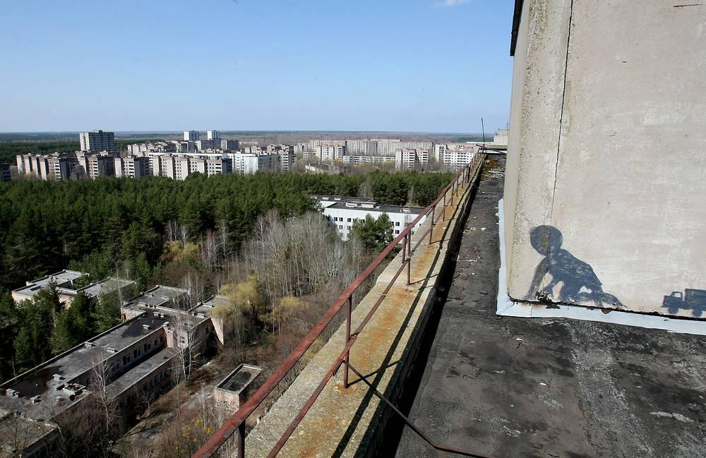 A graffiti in Pripyat