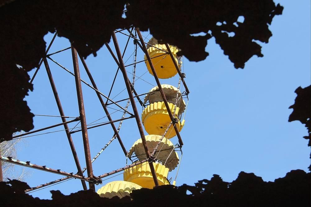 A ferris wheel in Pripyat