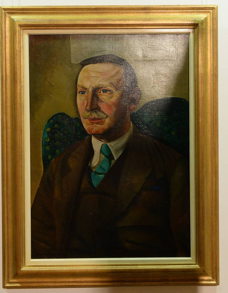 Portrait of the director of the Worcester Art Museum, Raymond Henniker-Heaton, by Boris Grigoryev