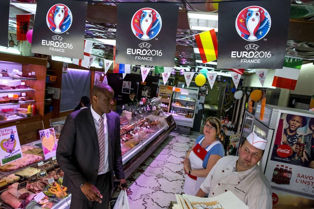 Boucherie de Centre near the Euro 2016 Fan Zone in Lens