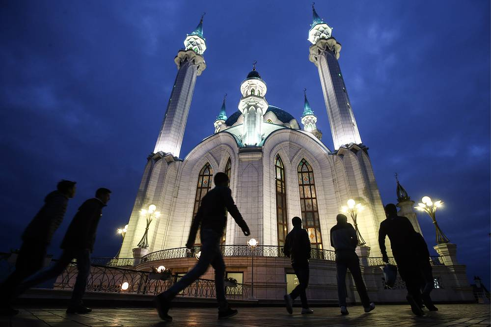 The Kul Sharif Mosque on Eid al-Adha in Kazan