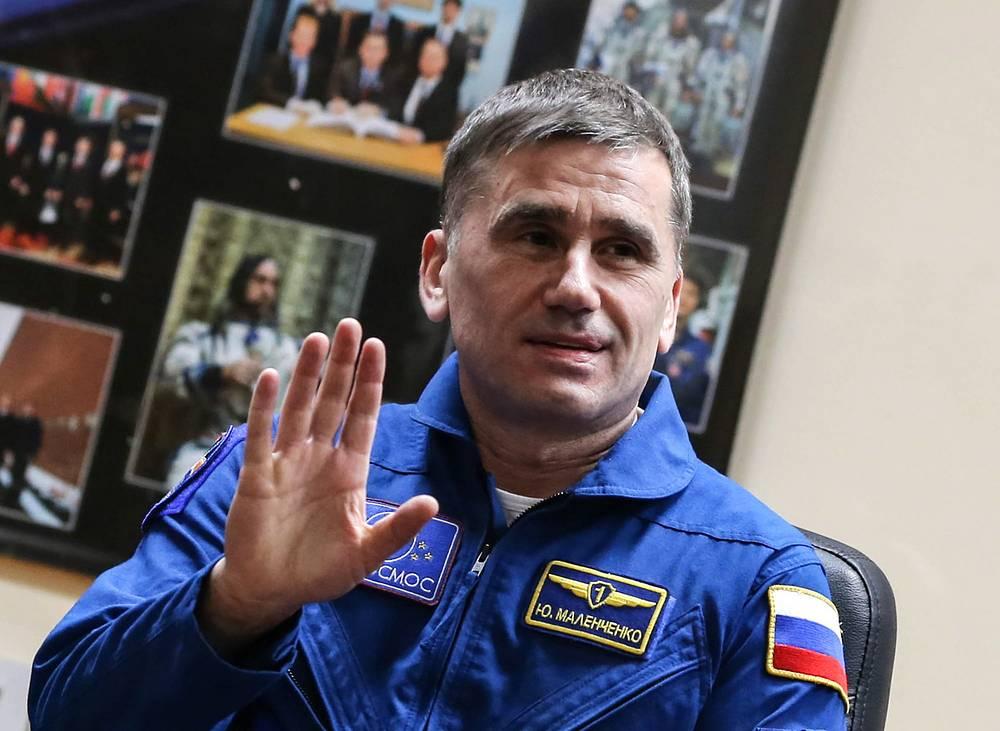 Yuri Malenchenko at Baikonur Cosmodrome, 2015