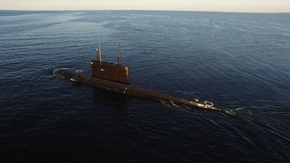 Sea trials of the Veliky Novgorod submarine