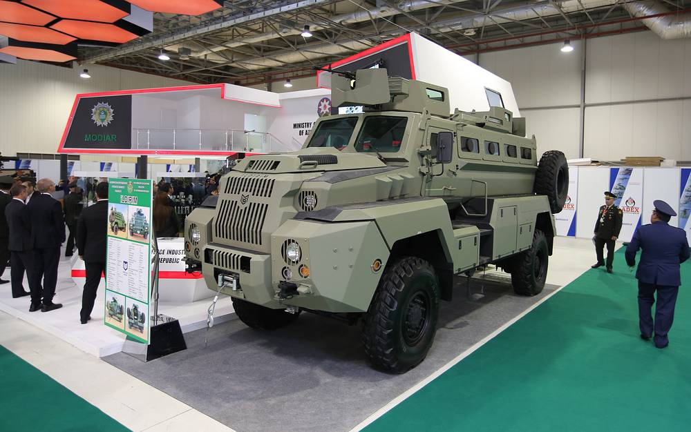 Azerbaijan's new Ildirim mine-resistant light armored vehicle
