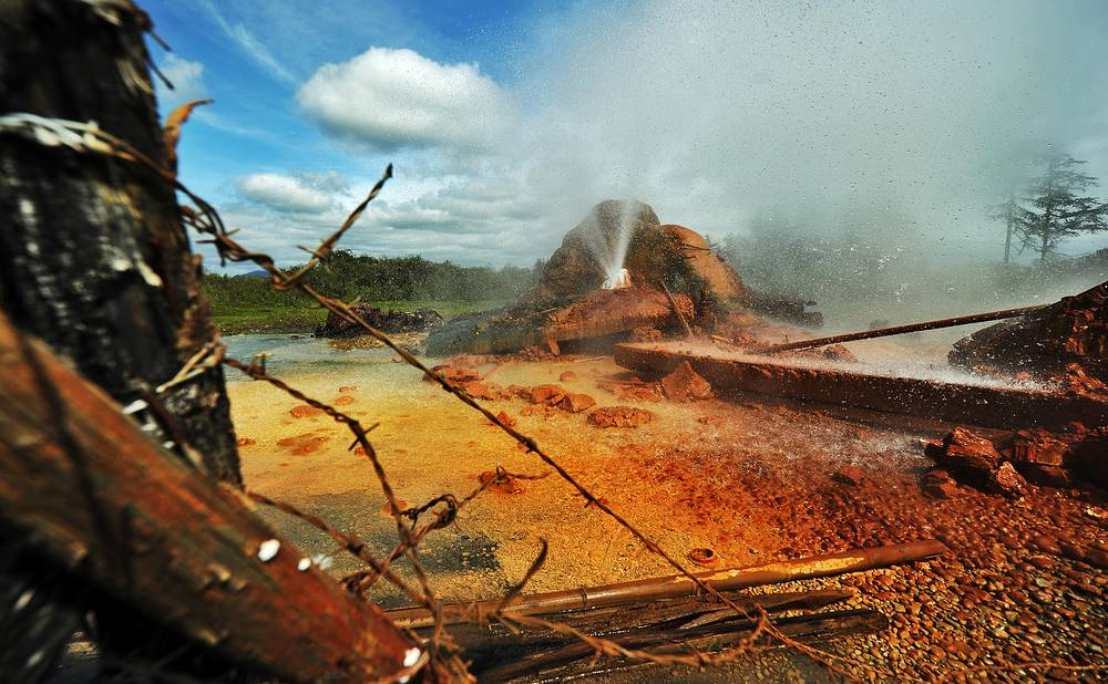 A geothermal/hot spring in Ochamchira