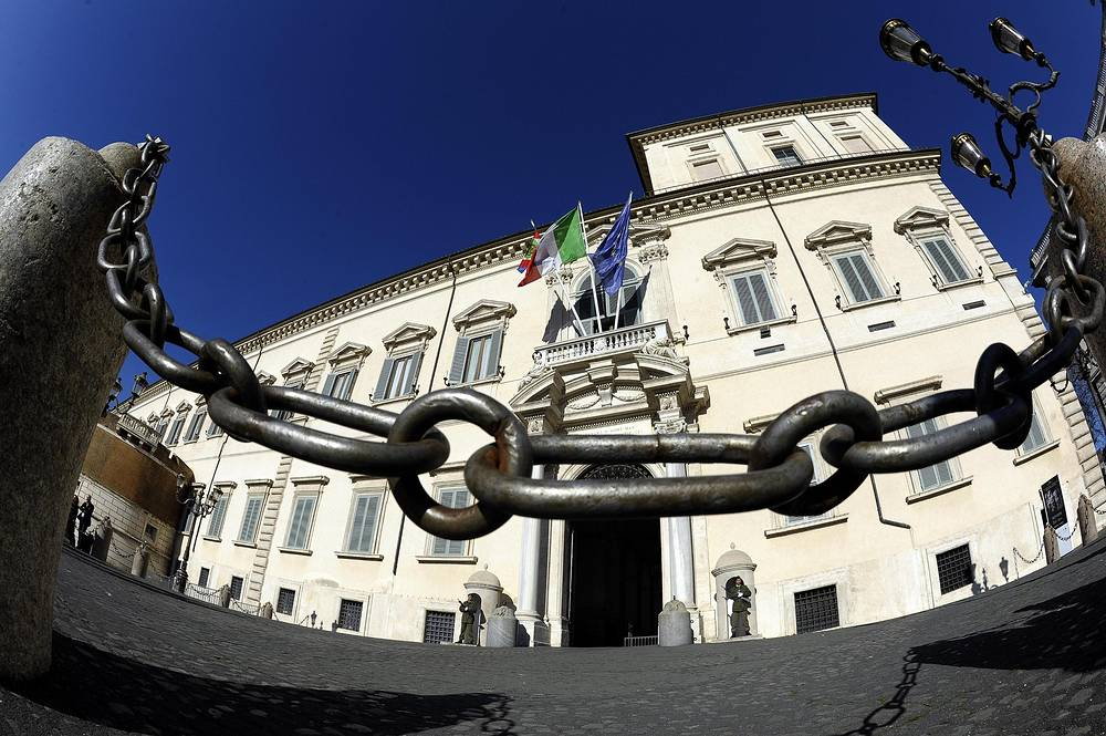 The Quirinal Palace, the official residence of the President of the Italian Republic, in Rome