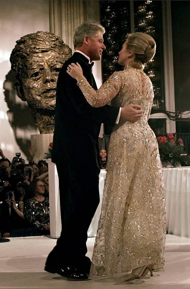 Bill and Hillary Clinton dancing at the New York Inaugural Ball, 1997