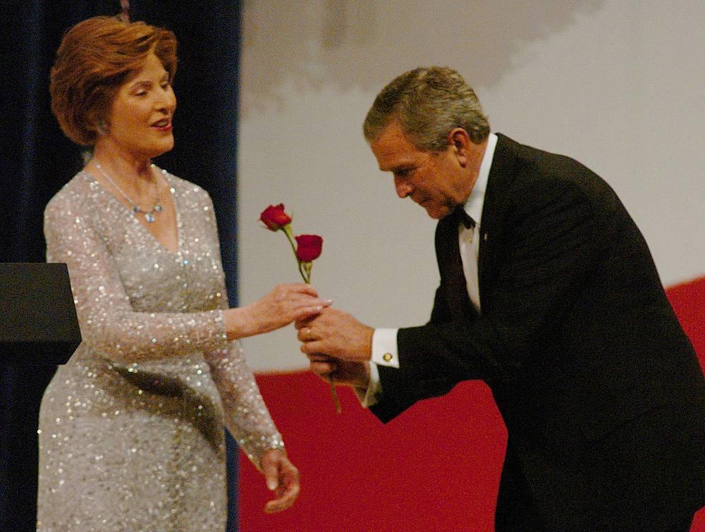 Laura Bush and George W. Bush at the Patriot Ball at the Washington Convention Center, 2005