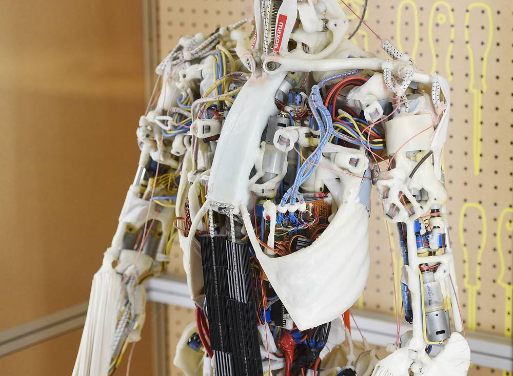 A close-up of a Maxon robot