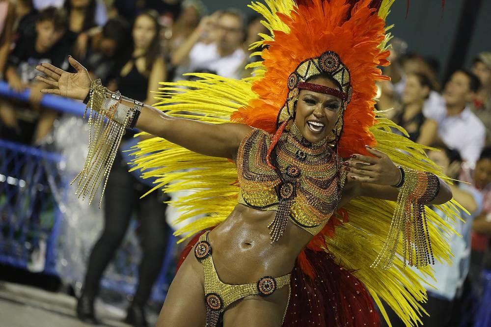 Carnival celebrations at the Sambadrome in Rio de Janeiro