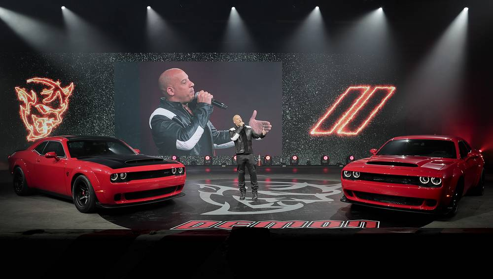 Actor Vin Diesel unveiling of the 2018 Dodge Challenger SRT Demon