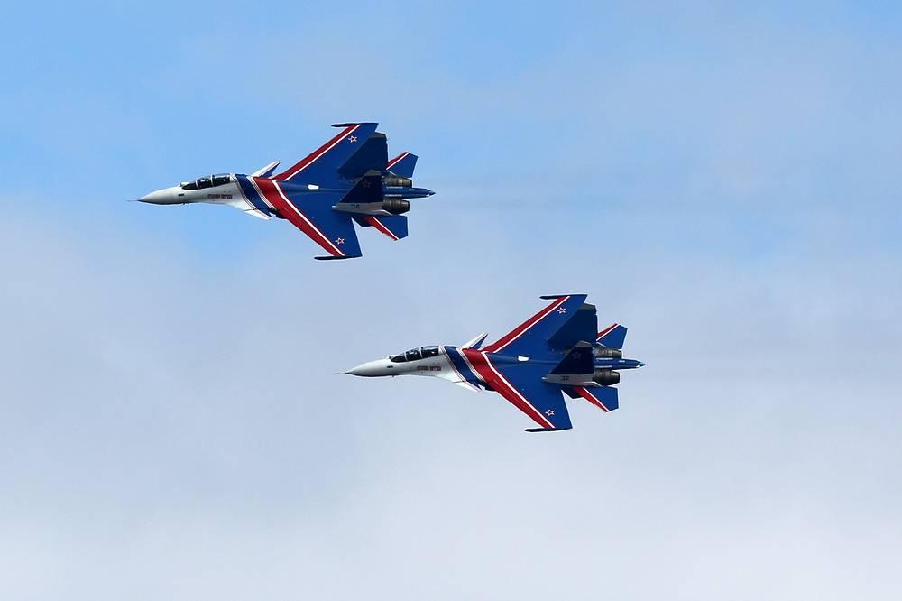 Sukhoi Su-30SM fighter jets
